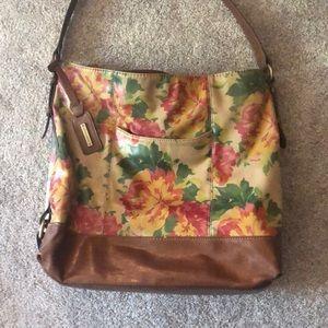 Tignanello floral shoulder strap bag